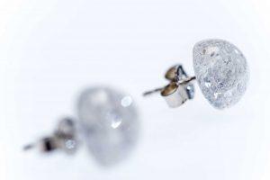 Ohrstecker Silber Bergkristall crash