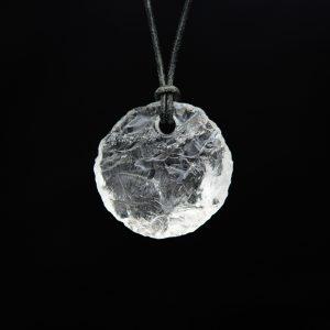 Rondelle Bergkristall