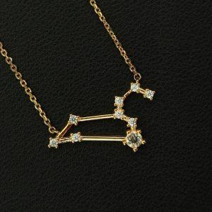 Sternbild Löwe Bergkristall Silber Anhänger