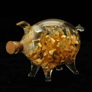 Mundgeblasenes Glücksschein mit 22 ct. Gold