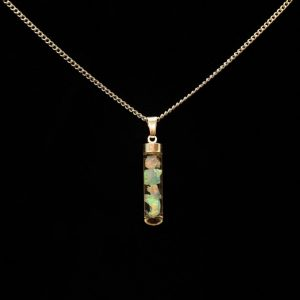 Opal Fläschchen Silber