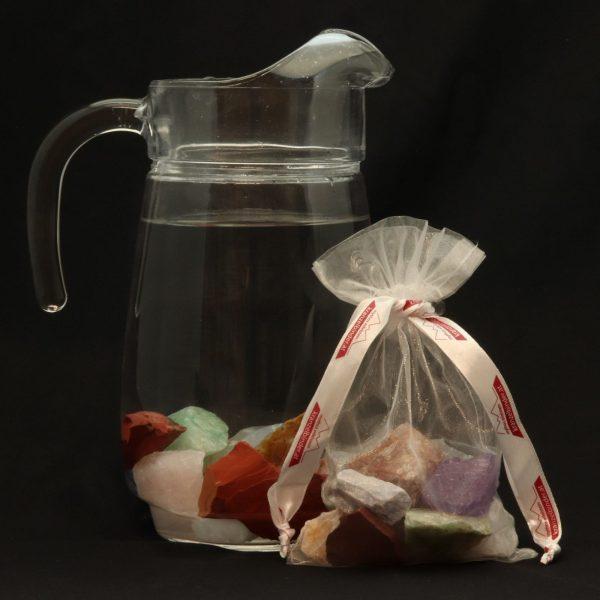 Kristallwasser Quarzmischung 7 verschiedene Edelsteine