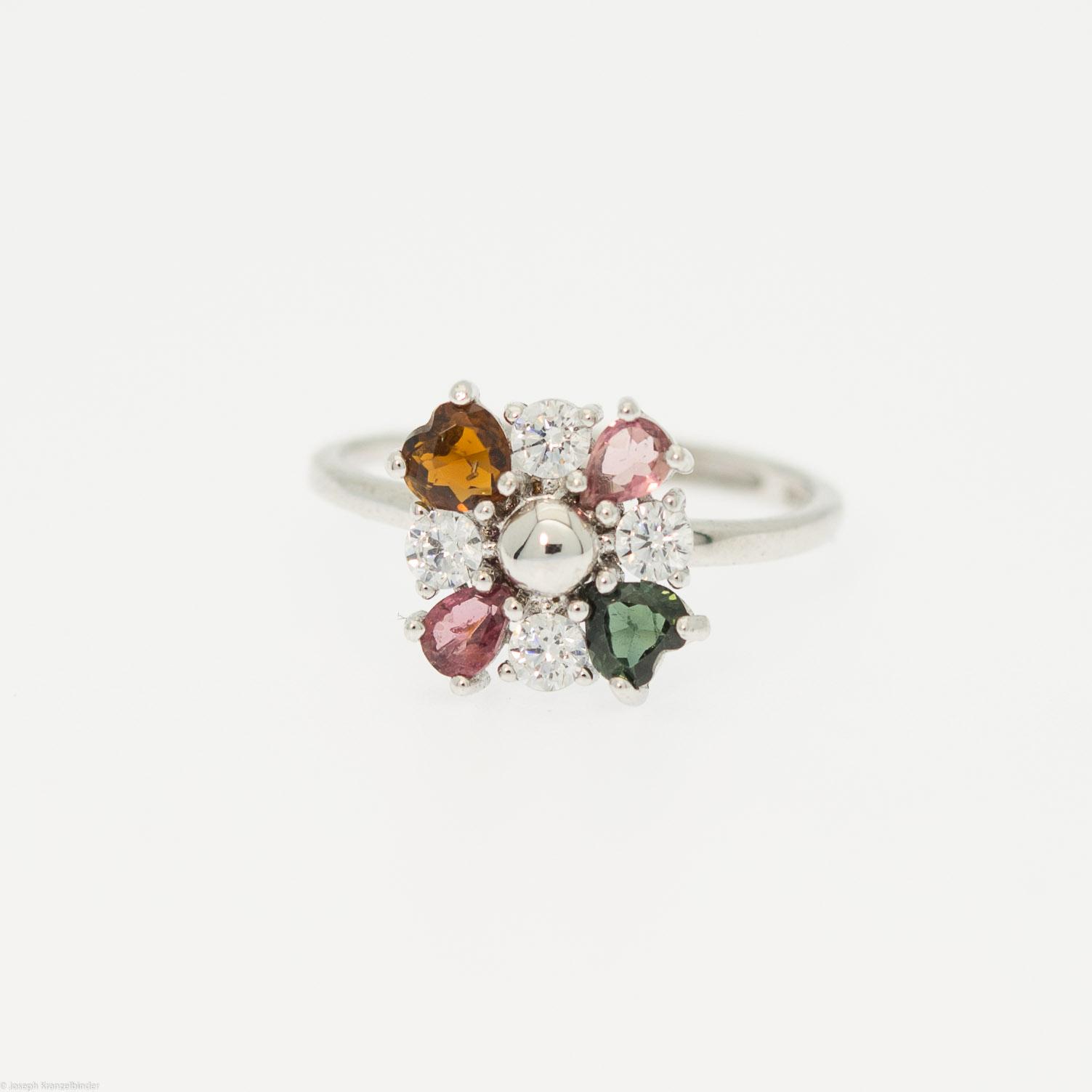 Silberring Turmalin Glitterspinner Größenverstellbar