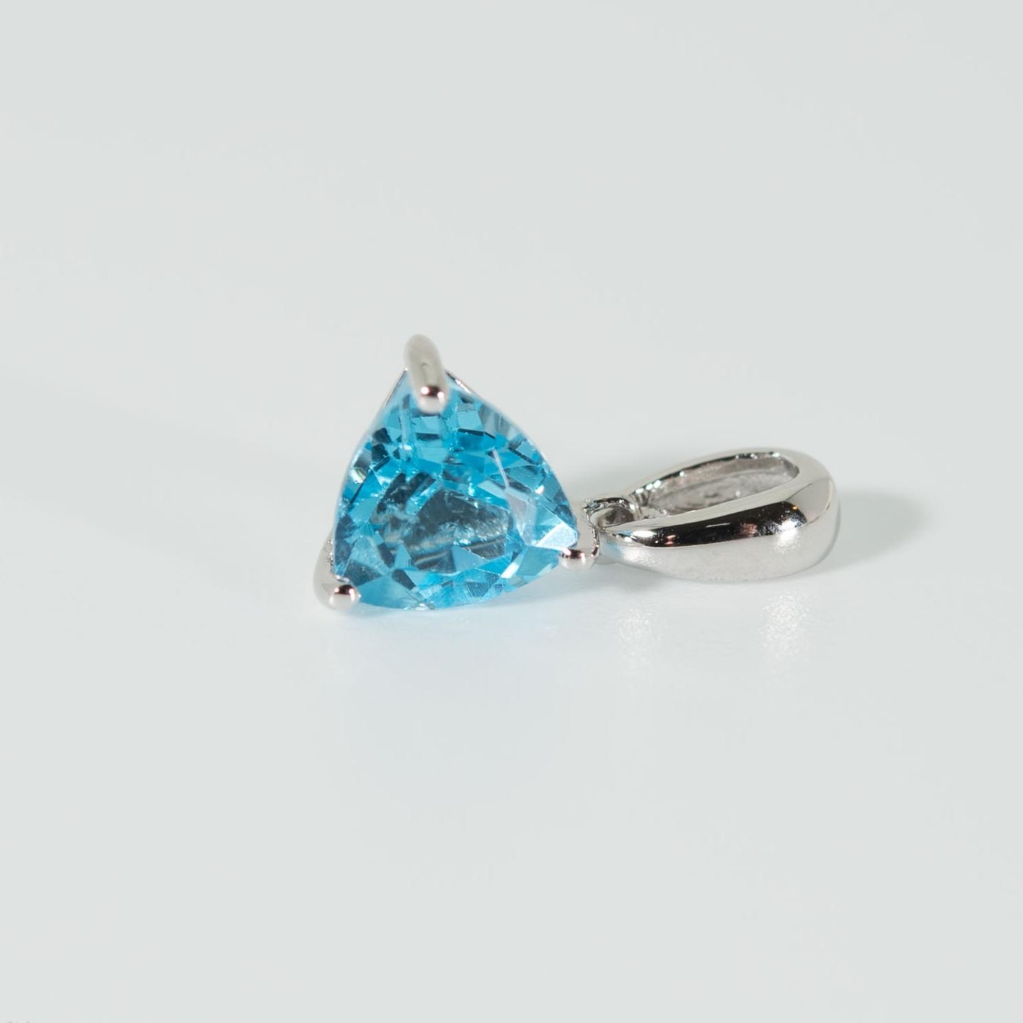 925 Silberanhänger blauer Topas