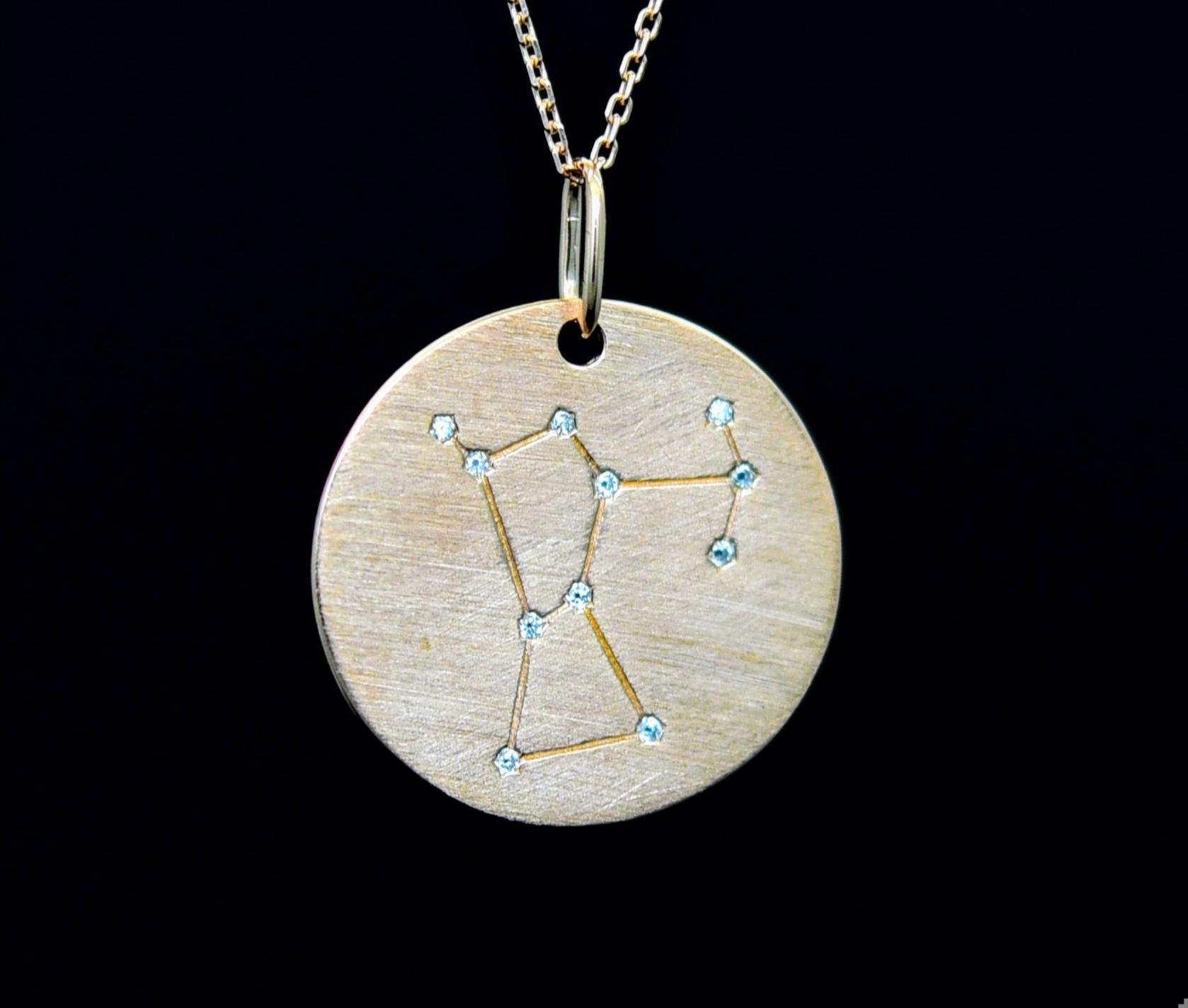 Sternbild Orion Silber mit Zirkonen als Sterne