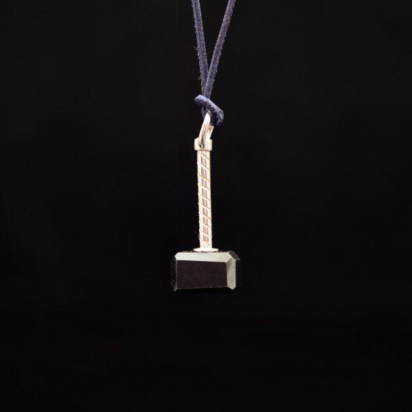 Silberanhänger Blutstein Thorhammer