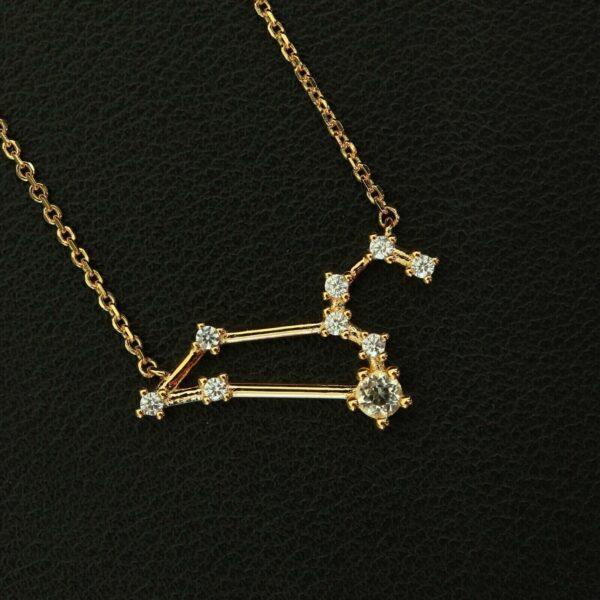 Bergkristall Silberanhänger Löwe Gold