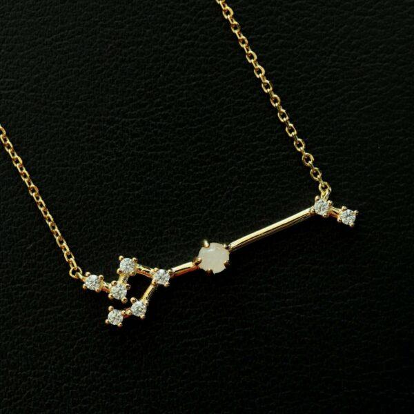 Sternbild Stier Silber Anhänger Rosenquarz